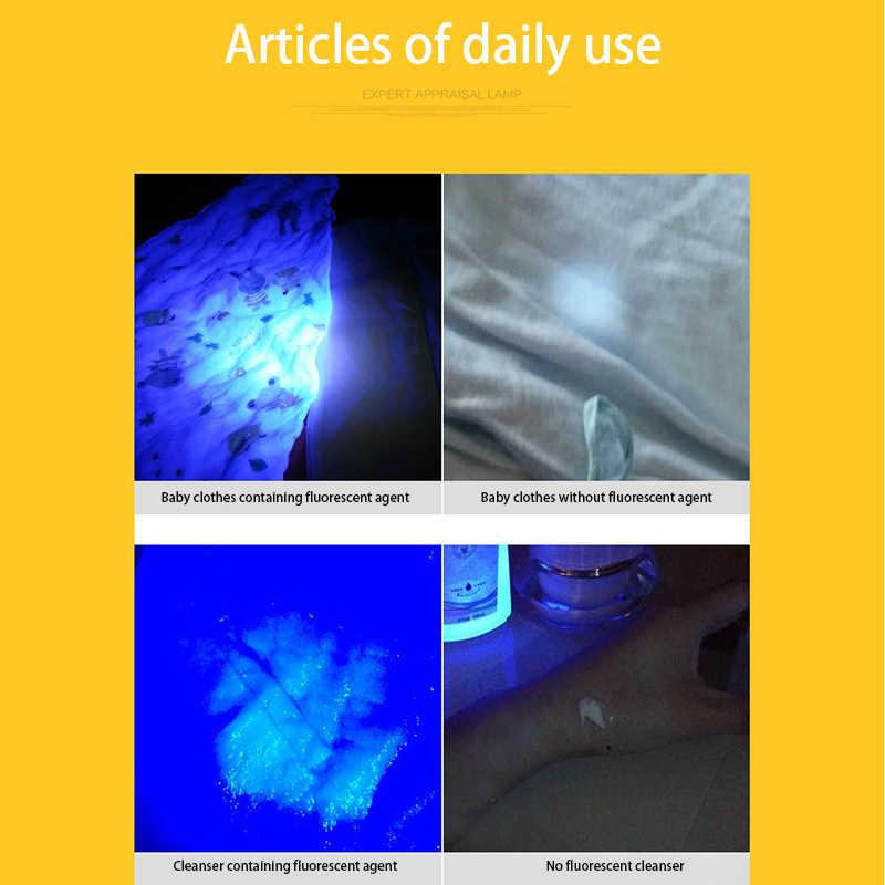 ไฟฉาย UV Ultra VIOLET ที่มีฟังก์ชั่นซูม MINI UV Black Light เครื่องตรวจจับคราบปัสสาวะแมงป่องใช้ AA/ 14500 แบตเตอรี่