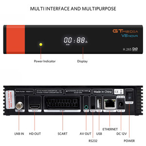 Image 2 - HD DVB S2 GTmedia V8 Nova récepteur de télévision par Satellite intégré WIFI puissance identique à V9 Super espagne pologne récepteur de télévision par Satellite pas dapplication