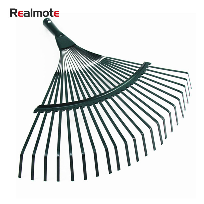 Realmote Rake 22 Toothed Rake Wooden Handle Dead Leaf Rake Steel Wire Garden Rake Gardening Tools Agriculture