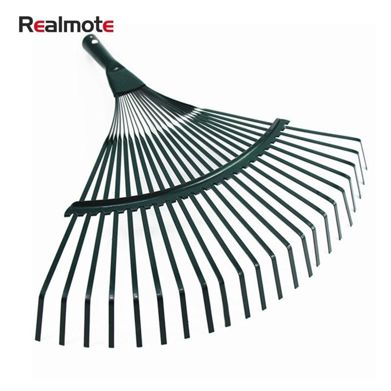 Realmote Rake 22 Toothed Rake Wooden Handle Dead Leaf Rake Steel Wire Garden Rake Gardening Tools Agriculture