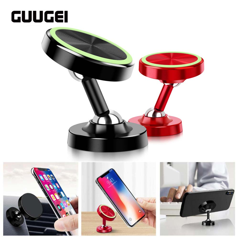 GUUGEI Magnetic Car Phone Holder 360 Degree Phone Holder Universal Magnet Phone Stand Mobile Phone Support GPS Holder Stand