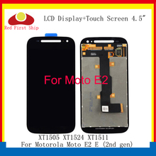 купить 10Pcs/lot LCD For Motorola Moto E2 LCD E (2nd gen) XT1505 XT1524 XT1511 Touch Screen Digitizer Assembly LCD Display Replacement по цене 7523.78 рублей