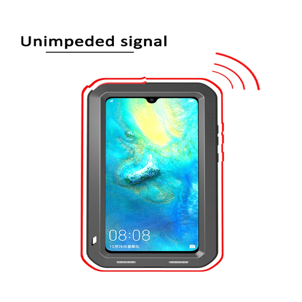 Image 3 - Original Aluminum Metal Glass Outdoor Shockproof Case for HUAWEI Mate 20/Mate10 Case for Huawei Mate 20 Lite/10 Pro Cover-in Fitted Cases from Cellphones & Telecommunications