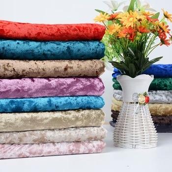 100*150cm Gold velvet fabric elastic Soft ice velvet fabric dress cloth DIY wallet tablecloth curtains pillow sofa cloth 1