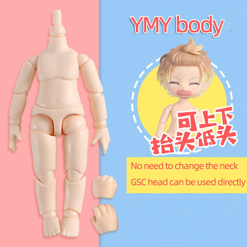 Obitsu 11cm boneca brinquedos ymy corpo adequado para gsc cabeça ob11 bjd boneca corpo conjunto de mão de brinquedo conjunto