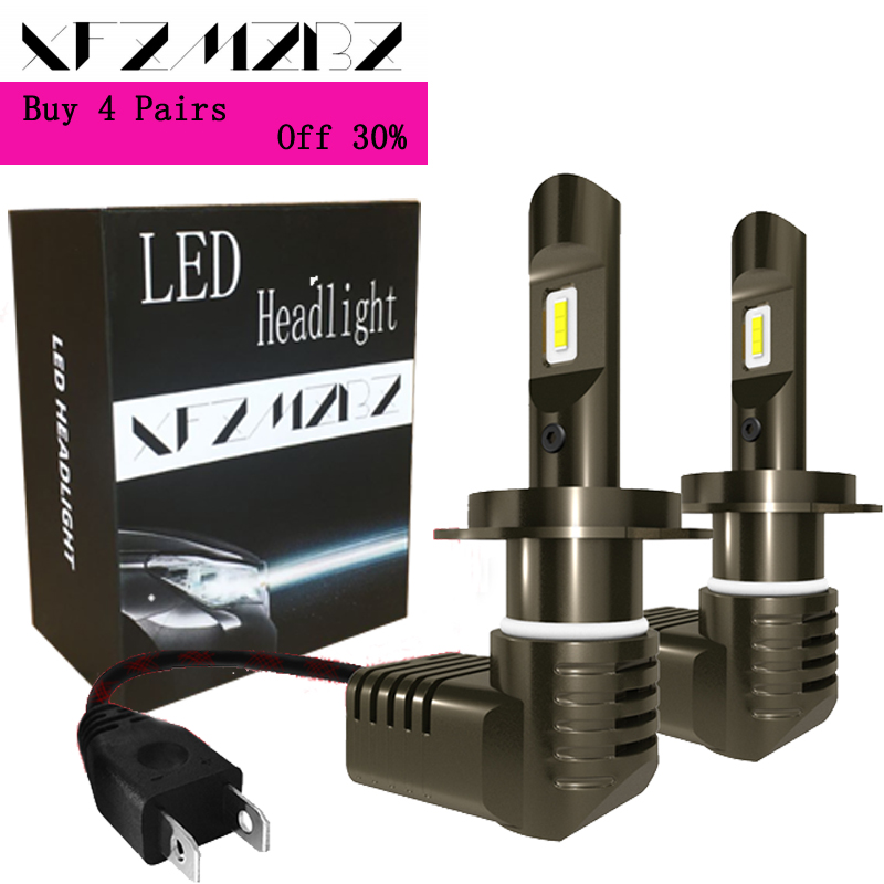 XFZMZBZ 2PCS P10 Car <font><b>LED</b></font> Headlight Bulb Kit <font><b>H7</b></font> H8 H9 H11 H4 9005 9006 200W <font><b>20000LM</b></font> <font><b>6000K</b></font> Bright <font><b>LED</b></font> Bulbs Lamp image