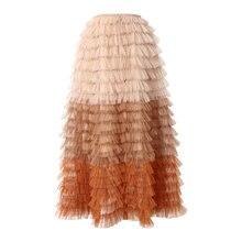 Женская трехмерная юбка трапеция seebeautiful свободная трапециевидная