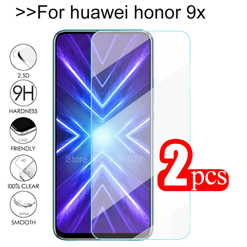 2pcs Tempered Glass For Huawei Honor 9x Screen Protector Protective Glass On For Honor 9X 9 X Honer X9 Honor9x STK-LX1 Film Glas