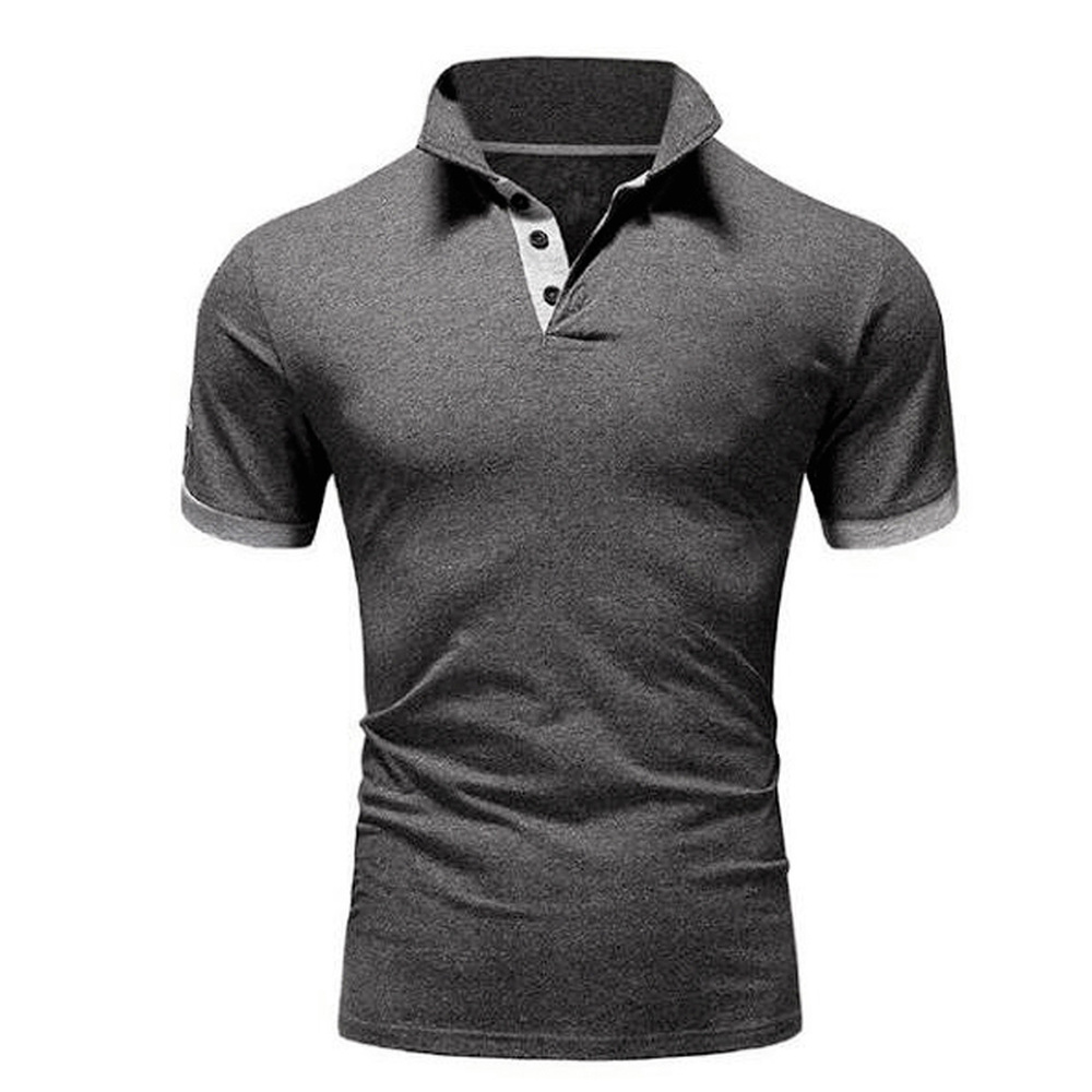 Covrlge Polo Shirt Men Summer Stritching Men's Shorts Sleeve Polo Business Clothes Luxury Men Tee Shirt Brand Polos MTP129 5
