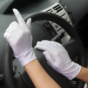 Summer Gloves Men/Women Short Paragraph Elastic Thin Spandex Gloves/White Ceremonial Gloves/Jewelry Dance Gloves 4049