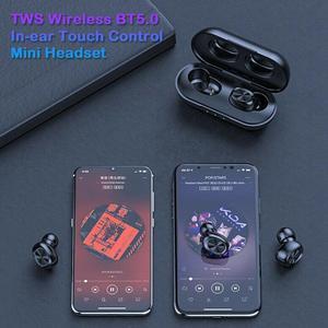Image 3 - Auriculares inalámbricos B5 TWS Bluetooth 5,0 con Control táctil, auriculares de música estéreo 9D resistentes al agua con batería externa de 300mAh