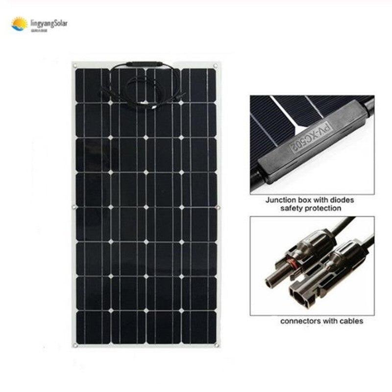 El panel solar trae una revolución de nueva energía, panel solar flexible de 100 w 18v para el kit del sistema del hogar de la célula del cargador de batería de 12V 100% nuevo y original, garantía de 90 días SKM150GB128D
