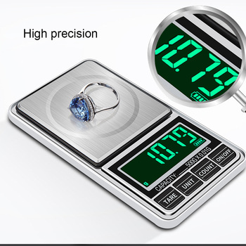 100g/200g/300g/500g/1kg 0.01g Mini Jewelry Scale USB Charging Pocket Digital Scales Precision Electronic Balance  Weight Scale mini precision scale 100g 200g 500g 0 01 0 1g digital pocket scale for gold jewelry weight gram balance lcd electronic scales