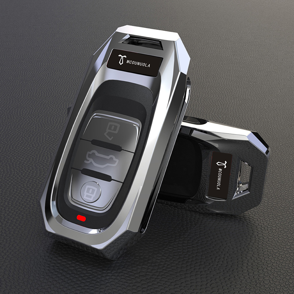 High-end Aviation Zinc Alloy Car Key Pack Car Key Cover Case For Audi A6 RS4 S5 A3 Q3 Q5 S3 A4 Q7 A5 TT 2018 Key Bag Cover