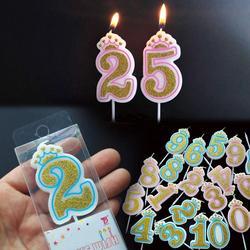 Número velas de aniversário 1 2 3 4 5 6 7 8 9 0 ouro sliver crianças aniversário velas para bolo de festa suprimentos decoração do bolo velas