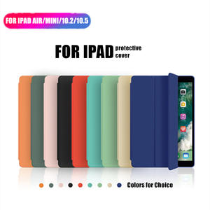 SCHANGE Three-fold Cover for iPad Case Silicone Cover for iPad Air 2 Case for iPad Air