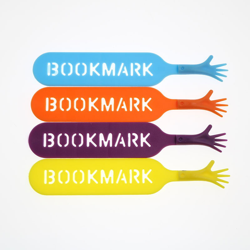 4 Pieces / Set Of Creative Stationery Tag Bookmark Set Silicone Novel Reading Book Article Children Stationery Creative Gift