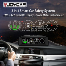 Clock Inclinometer Meter-Car Hud-Tire Vjoycar Newest 3in1 Compass Speed-Slope GPS TPMS