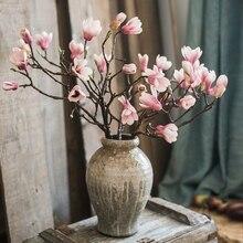 Декор для гостиной DIY свадебное осеннее украшение растение стены Sztuczne Kwiaty Магнолия ветвь цветка искусственные цветы для дома стол