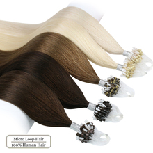 Ugeat Micro Loop Ring Hair Extensions Human Hair 14-24