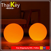 40cm PE Plastic white colourful LED Ball