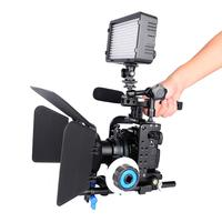 GH5 Camera Cage Film Movie Making Video Stabilizer Cage Rig Kit Matte Box+Follow Focus+Handle Grip for Panasonic Lumix GH5S GH4
