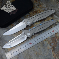 Kevin John MT socom S35VN blade ball bearing flipper folding knife titanium handle camping hunt survival pocket knives EDC tools