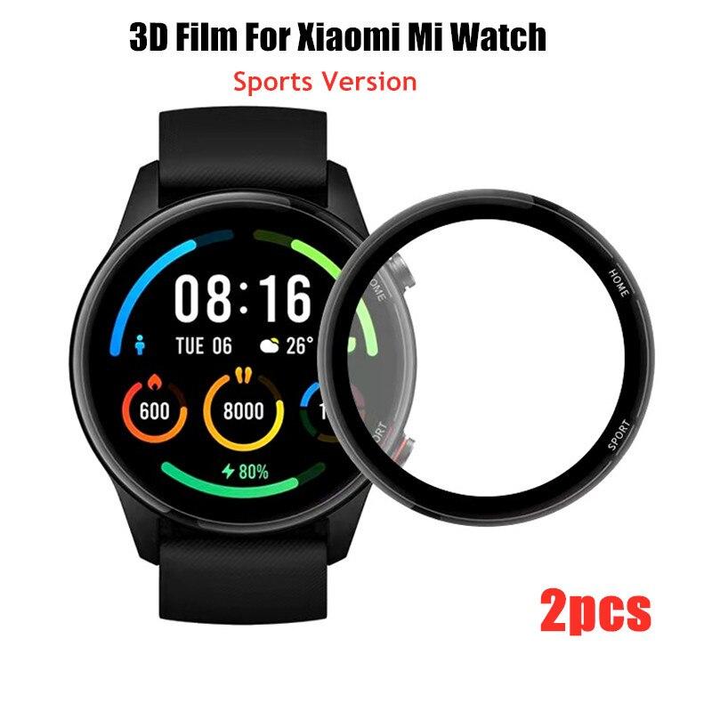 3d-пленка для смарт-часов Xiaomi Mi, цветная спортивная версия, полноразмерная мягкая защитная пленка, защита экрана смарт-часов