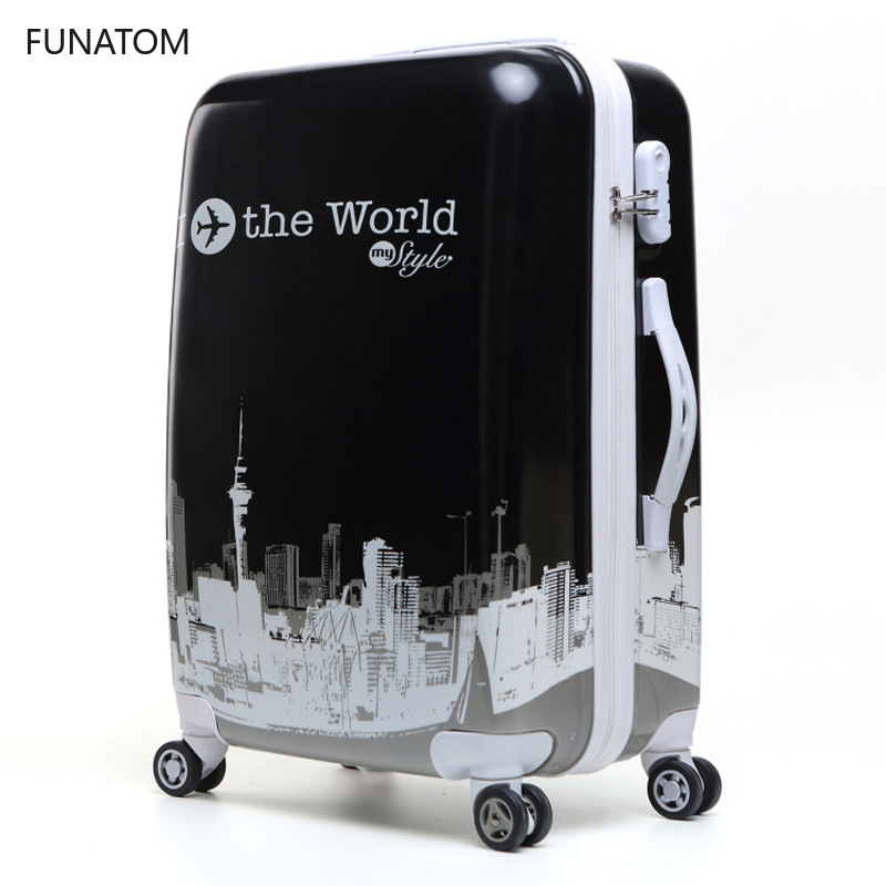 Hot 24 Inch ABS+PC Suitcase Travel Trolley Luggage Carry on Rolling Luggage Cabin Trolly Bag for Traveling Kids Luggage Bag