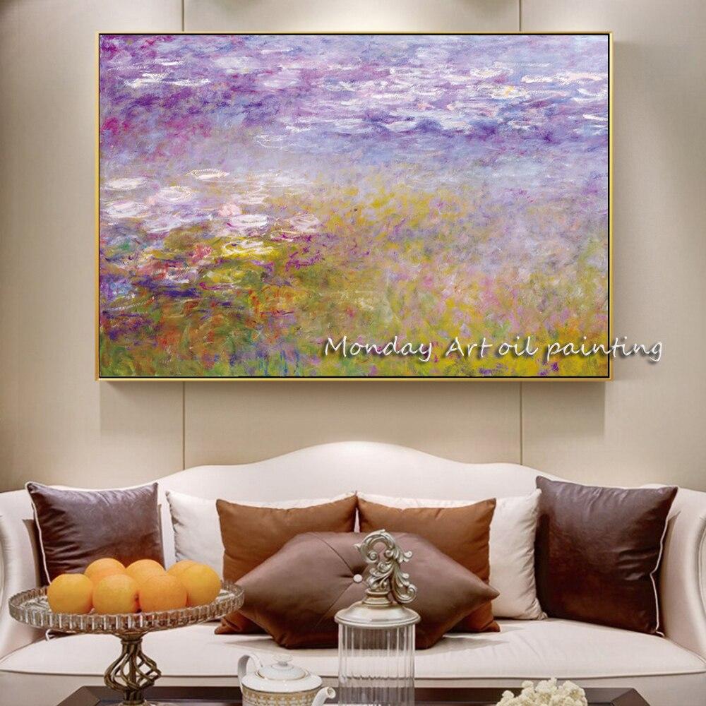 Pinturas-Monet-Water-lililies-en-la-pared-impresionista-famosa-pintura-reproducci-n-flor-lienzo-cuadros-para (1)副本