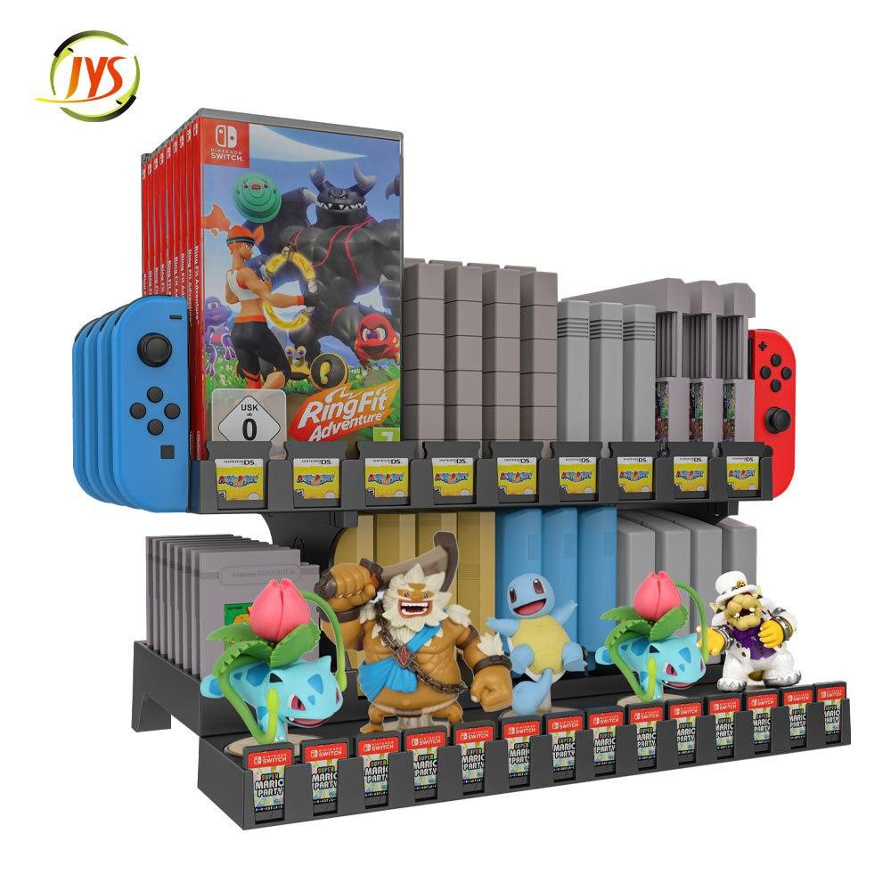 Стеллаж для хранения игровой диск держатель для N-Switch игровой чехол для хранения 60 коробка для карточных игр 4 Joy-Con для Nintendo Switch-1 шт. пульт Экр...