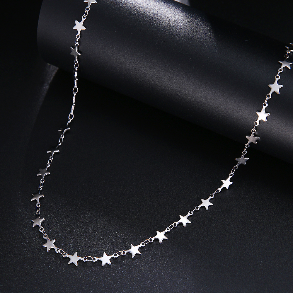 CACANA Stainless Steel Chain Necklace For Man Women Gold Silver Color For Pendant Pentagram Donot Fade Jewelry N1926 2