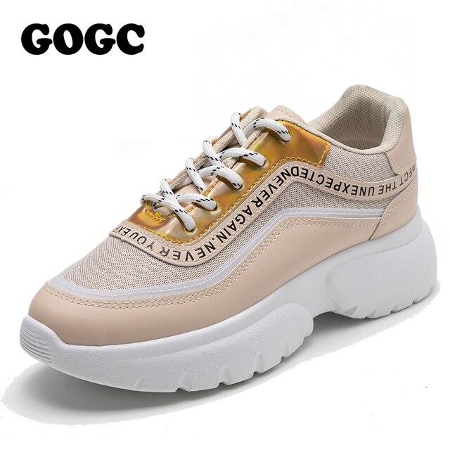 $ US $19.20 GOGC shoes woman sneakers women Women Casual Spring summer Sneakers Breathable Women Shoes Female Platform Shoes Women G6815