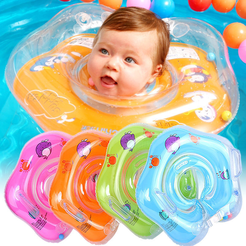 Swimming Baby Accessories Neck Ring Tube Safety Infant Float Circle For Bathing Inflatable Water Toddler Float Lap Swim Sports