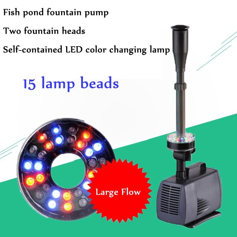 Étang de poissons d'aquarium de 40w 2000l/h a mené la pompe Submersible de fontaine de jardin de pompe à eau avec la fontaine de Led à changement de couleur 220V