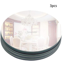 200mm Round Mirror Glass Tray for Wedding Decorations Decor Candle Tray Plate for Baby Shower Parties Centerpieces 2mm thickness