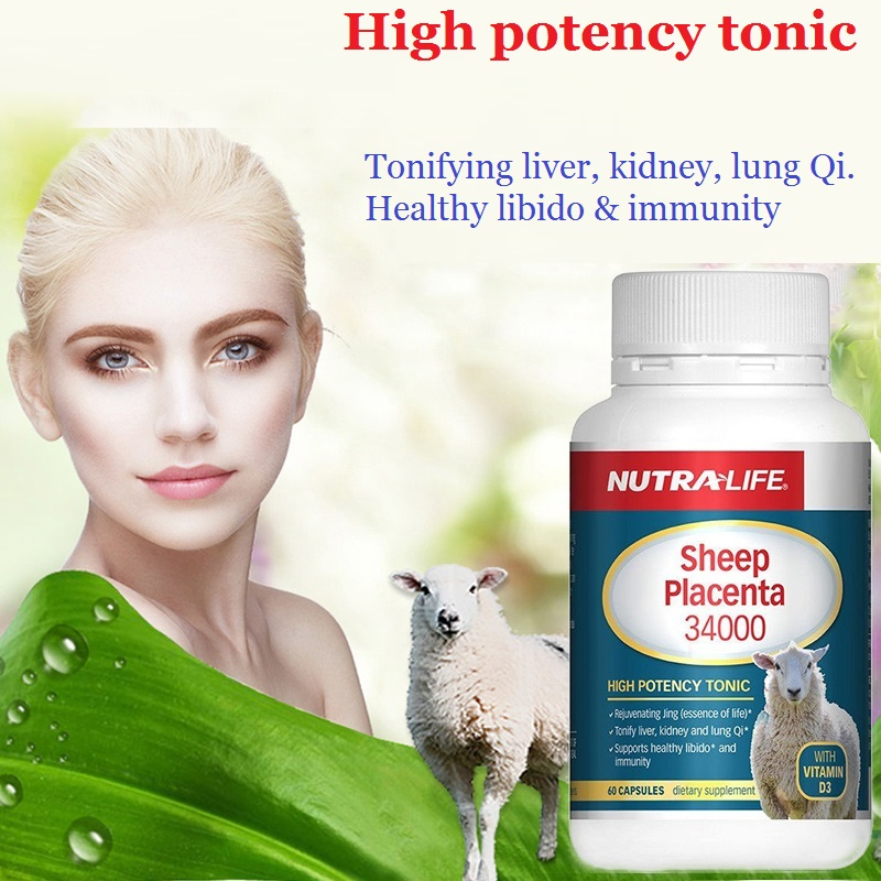 Nutra Life Sheep Placenta Anti Wrinkles Women Health Dietary Supplement Protein Amino Acids General well-being Improve vitality image