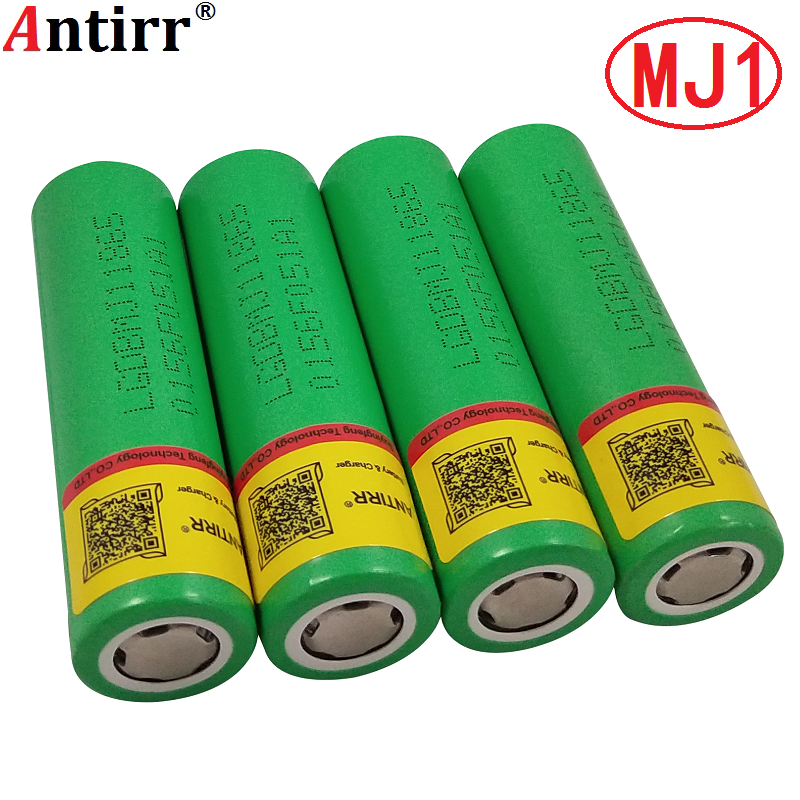 Free shipping! 4PCS/LOT Word Record <font><b>18650</b></font> 3.6V inr18650 MJ1 3500mAh continuous 10A discharge battery for LG mj1 + box image