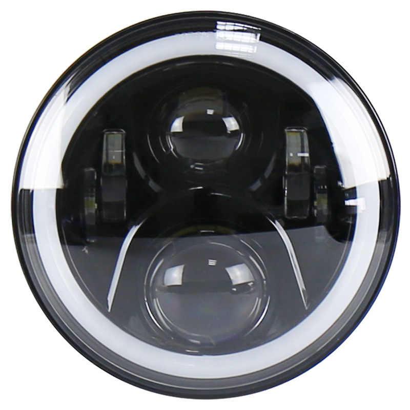 Levida mobile app controls RGB color angel eye diaphragm motorcycle headlamp 7-inch led motorcycle lamp