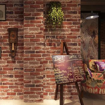 Pcv zagęścić tapeta z motywem cegły wysokiej jakości 3D tapeta z motywem cegły s tapeta na ścianę z motywem kamiennym imitujące cegłę tapeta z motywem cegły 3d Sofa do salonu tapety tanie i dobre opinie NONE CN (pochodzenie) Europejska Odporna na pleśń bez formaldehydu przyjazne dla środowiska Bardzo grube POLIESTER wallpaper walls