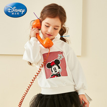 Disney Baby Childrens Clothing Girls Knitted Hooded 2019 Casual Coat Sweatshirt Mickey Mouse