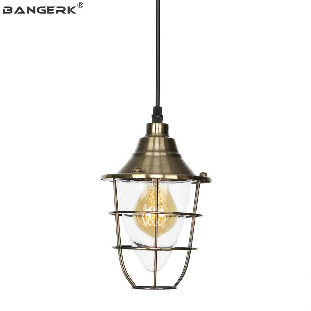 Промышленный подвесной светильник  винтажный Железный стеклянный Лофт декор  светодиодный подвесной светильник для столовой  бара  спальн...