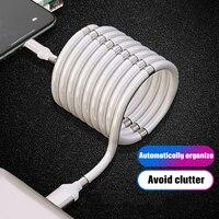Cable de datos magnético de carga rápida 3.1A, Cable retráctil automático para iPhone, Samsung, Xiaomi, Android, Micro USB tipo C