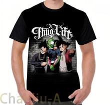 Thug life Goku piccolo Vegeta T-Shirt uomo divertente T-Shirt stampata donna top T-Shirt manica corta Casual