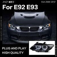 AKD Car Styling for BMW E92 Headlights 2006 2012 E93 Headlight 330i 335i DRL Hid Head Lamp Angel Eye Bi Xenon Beam Accessories
