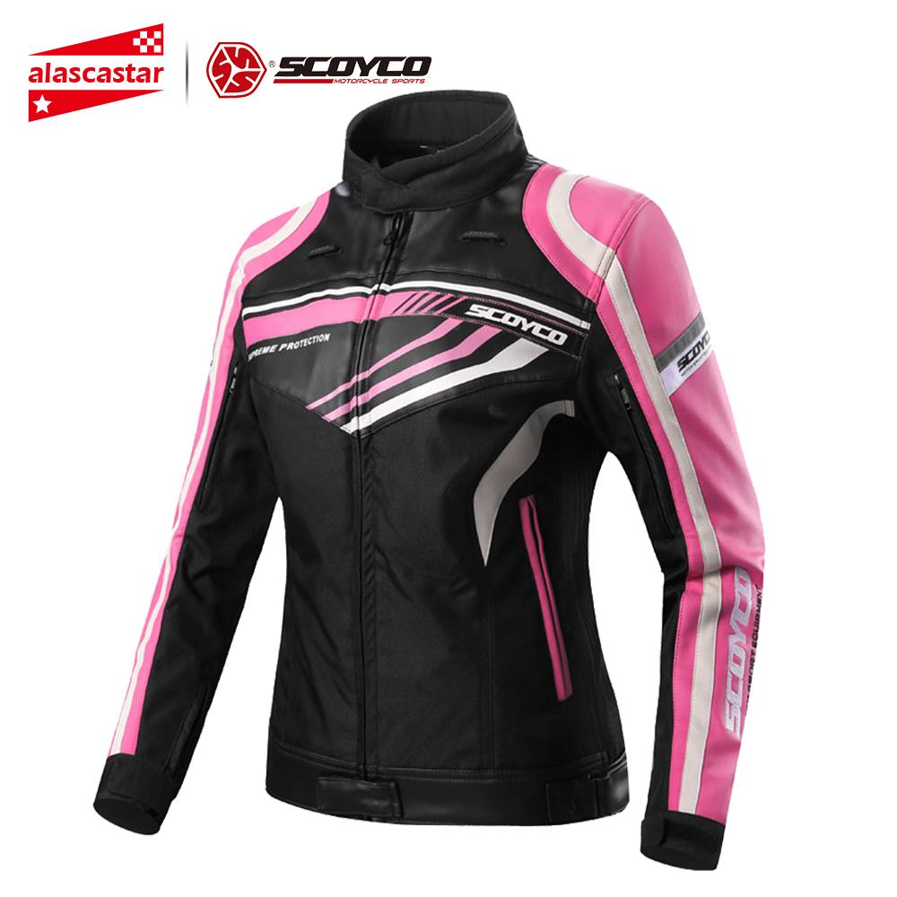 SCOYCO Motorcycle Jacket Women's Summer Leather Chaqueta Moto Jackets Waterproof Cross-country Riding Motorcycle Clothes