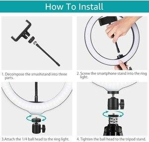 Image 4 - 12 Selfie Vòng Ánh Sáng Với 160Cm Chân Đế Tripod Tik Tok Video Trực Tiếp Trang Điểm Chụp Ảnh Vlog 3 Màu chế Độ Plus Vòng LED Đèn