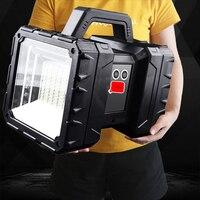 XHP100-foco de luz LED superbrillante, reflector de doble cabeza recargable, de mano, de trabajo, 9 núcleos, XHP70.2
