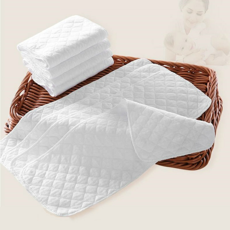 5pcs Baby Nappies Diaper Newborn Toddler Nappies Changing Pad Cotton Mat Washable Insert 3 Layers Cotton Baby care | Happy Baby Mama