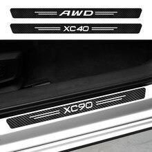 Für Volvo AWD C30 C70 S60 S80 S90 T6 V40 V50 V60 V70 V90 XC40 XC60 XC70 XC90 Auto Tür einstiegsschwelle Aufkleber Aufkleber Zubehör